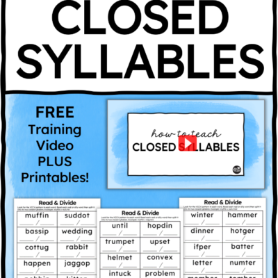 How to Teach Closed Syllables