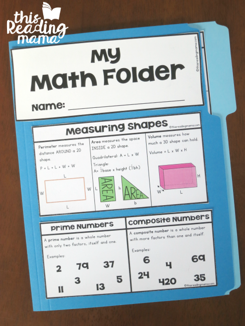 3-5 Math Folder - front - This Reading Mama