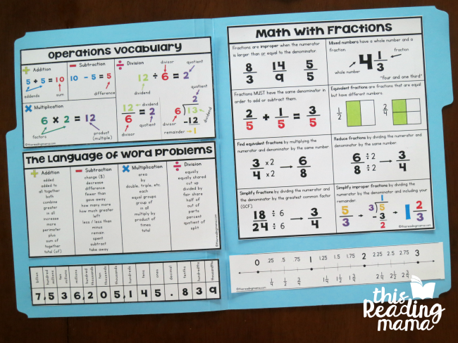3-5 Math Folder - middle - This Reading Mama