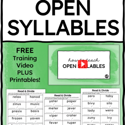 How to Teach Open Syllables