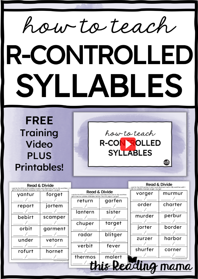 How to Teach R-Controlled Syllables - This Reading Mama