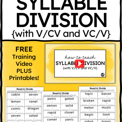 How to Teach Syllable Division with V/CV & VC/V