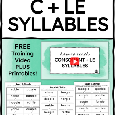 How to Teach Final Stable Syllables