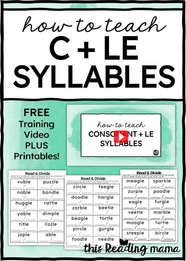 How to Teach Final Stable Syllables - This Reading Mama