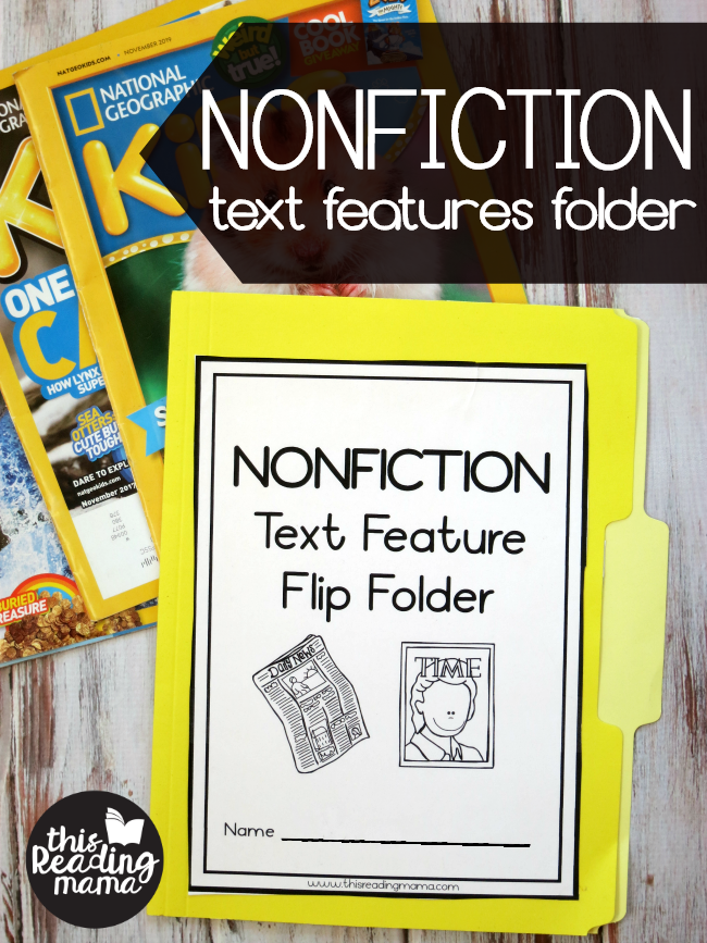Nonfiction Text Features Folder - This Reading Mama