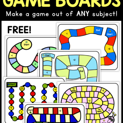 Printable Game Boards for ANY Subject