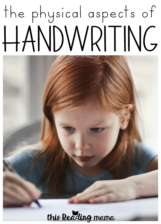 Supporting Writers with the Physical Aspects of Writing - This Reading Mama