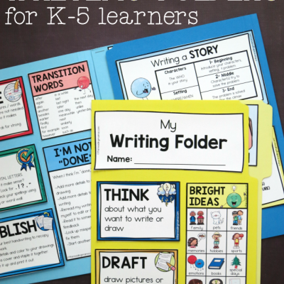 Writing Folders – for K-5 Learners
