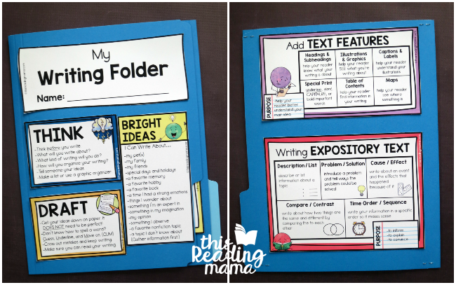 front and back of 3-5 Writing Folder