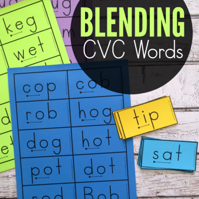 Blending CVC Words {Free Cards Included!}