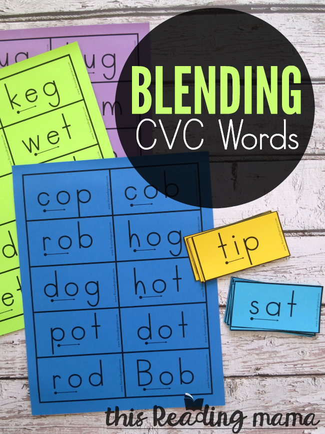 Blending CVC Words - with Free Successive Blending Cards - This Reading Mama