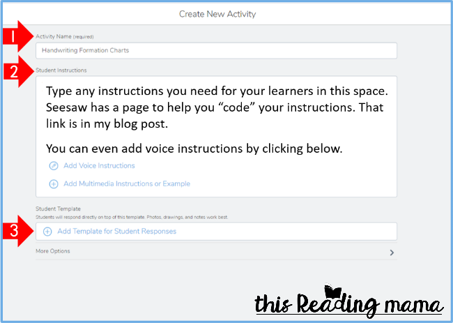 Seesaw Tutorial - Create a New Activity