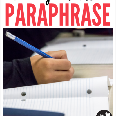 Steps of Teaching Writers to Paraphrase