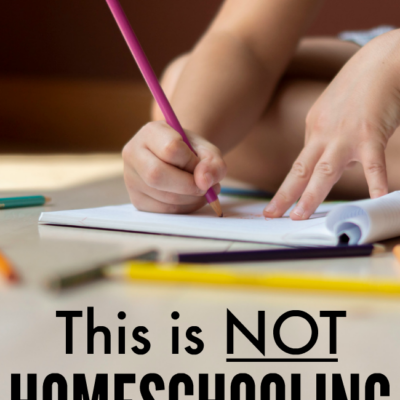 This is NOT Homeschooling