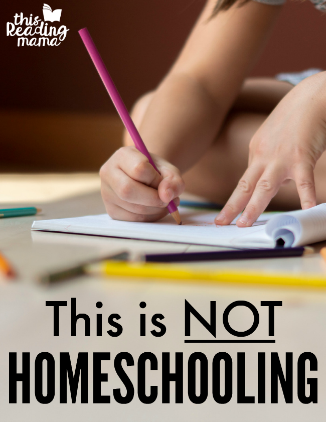 This is NOT Homeschooling - This Reading Mama