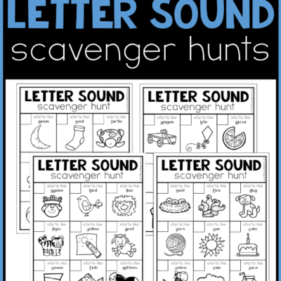 Printable Alphabet Scavenger Hunts