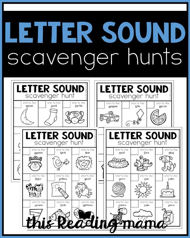 Printable Alphabet Scavenger Hunts - This Reading Mama