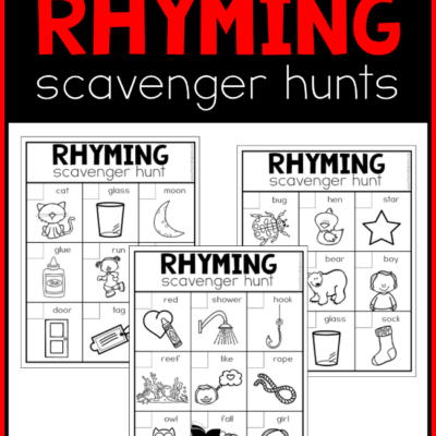 Printable Rhyming Scavenger Hunts