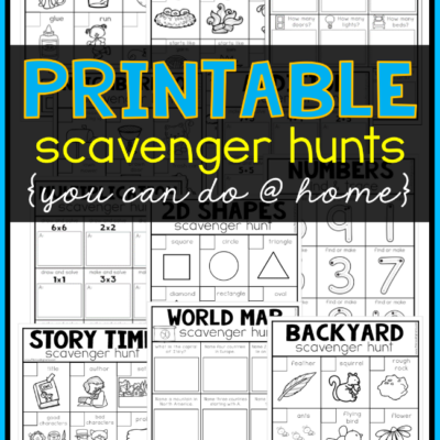 Printable Scavenger Hunts You Can Do at Home