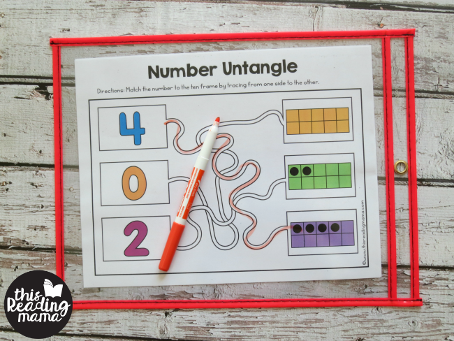 fine motor number mazes - level 1 for numbers 0-5