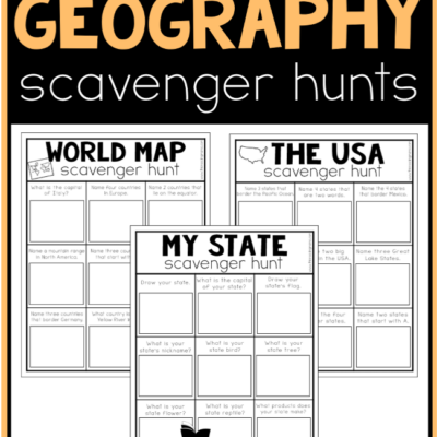 Printable Geography Scavenger Hunts