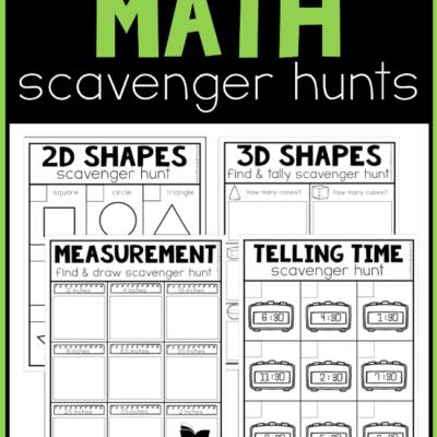 Printable Math Scavenger Hunts