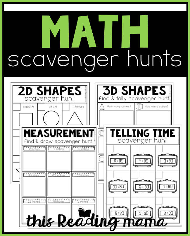 Printable Math Scavenger Hunts - This Reading Mama