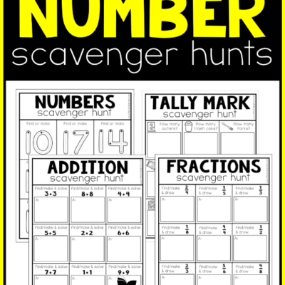 Printable Number Scavenger Hunts