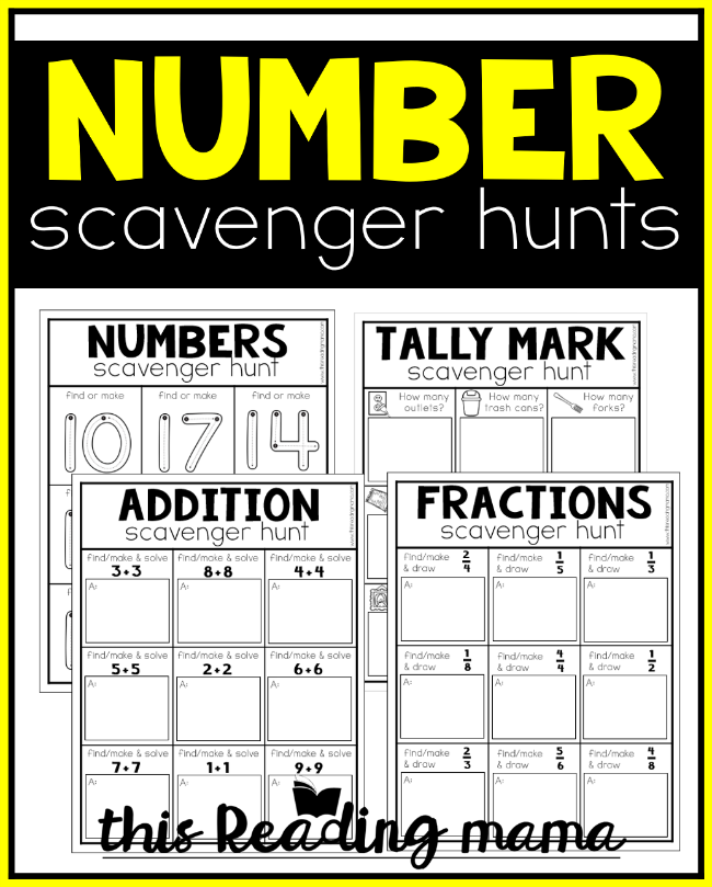 Printable Number Scavenger Hunts - This Reading Mama
