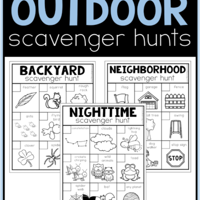 Printable Outdoor Scavenger Hunts