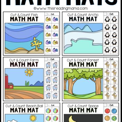 10 FREE Cut & Count Math Mats