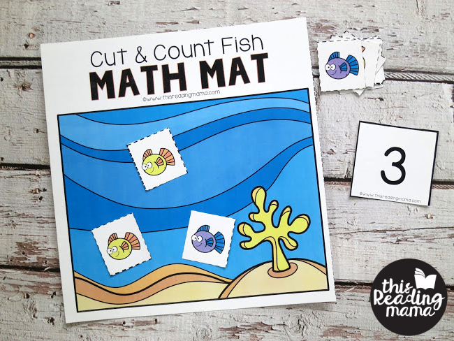 Cut & Count Mat Mats - use the manipulatives for math problems