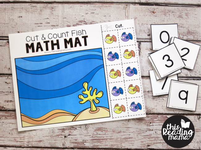 Cut & Count Math Mats - with number cards