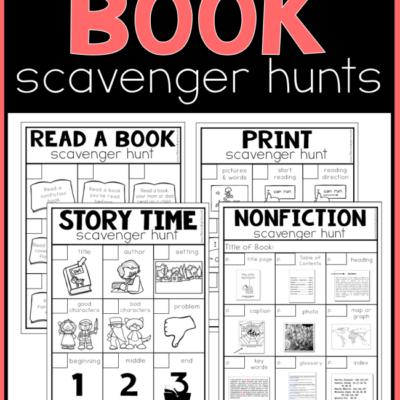 Printable Book Scavenger Hunts