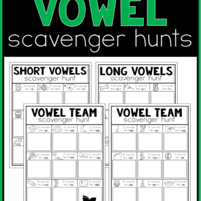 Printable Vowel Scavenger Hunts