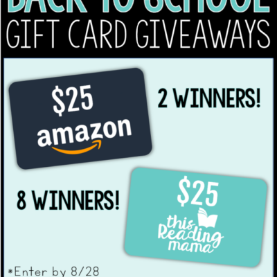 Back to School Gift Card Giveaways {This Giveaway is Over}