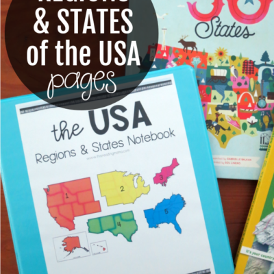 Regions and States of the USA Printable Pages
