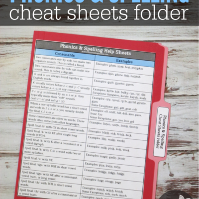 Phonics Cheat Sheets Folder