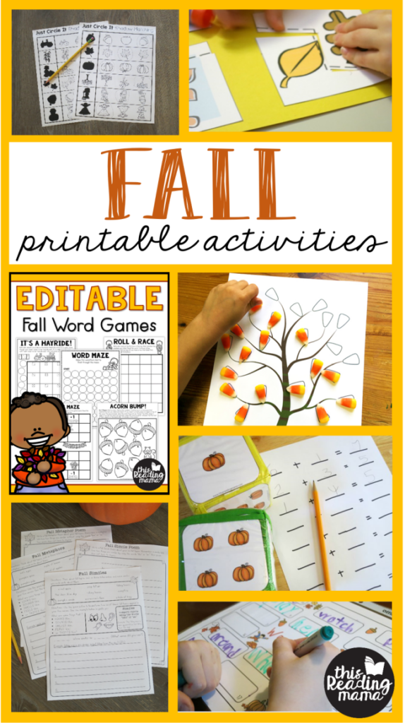 FREE Printable Fall Activities - This Reading Mama