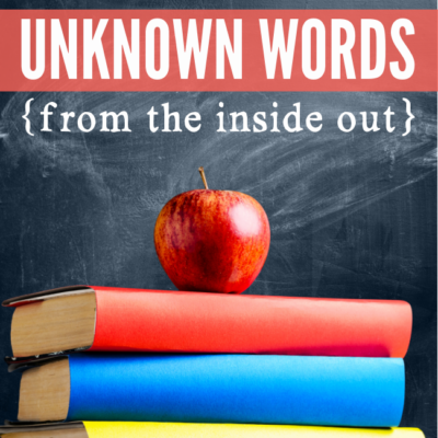 Reading Unknown Words from the Inside Out