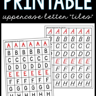 Printable Uppercase Letter Tiles