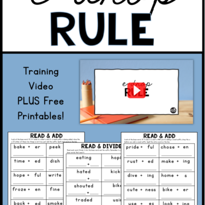 The E-Drop Rule {for Reading & Spelling}