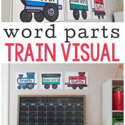 Word Parts Visual {Prefix, Base Word, & Suffix}