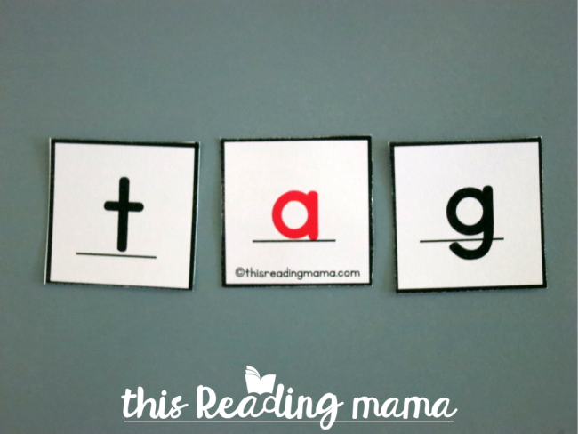 printable alphabet letter tiles - lines under all letters