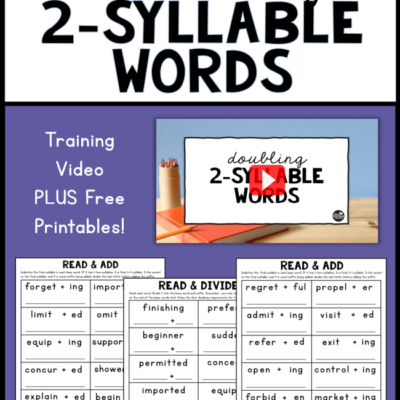 Doubling Two-Syllable Words