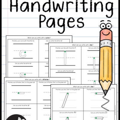 MORE Simple Handwriting Pages