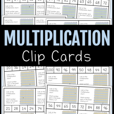 52 FREE Multiplication Clip Cards