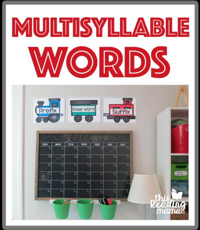 Mutisyllable Words Printables - This Reading Mama