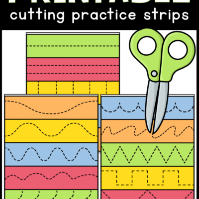 Printable Cutting Practice Strips