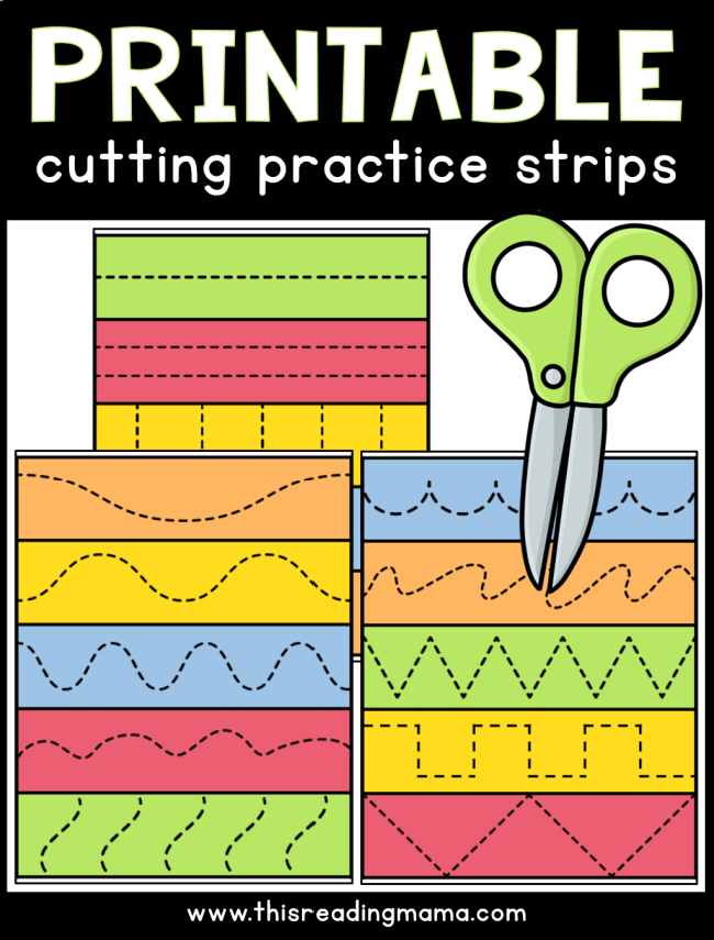 Printable Cutting Practice Strips - This Reading Mama